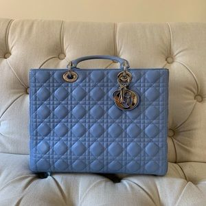 Christian Dior Lady Dior Large Handbag- Authentic